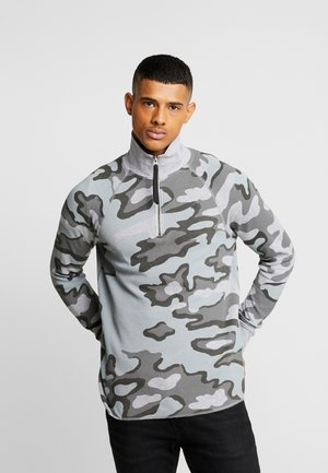 JIRGI-S HALF ZIP - Bluzka z długim rękawem - grey