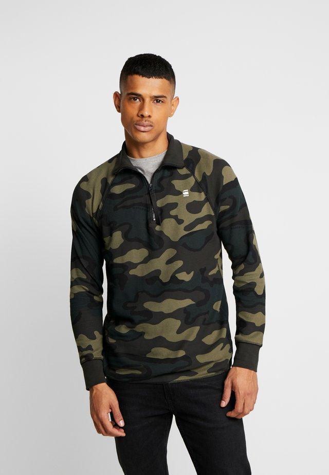 JIRGI-S HALF ZIP - Long sleeved top - black