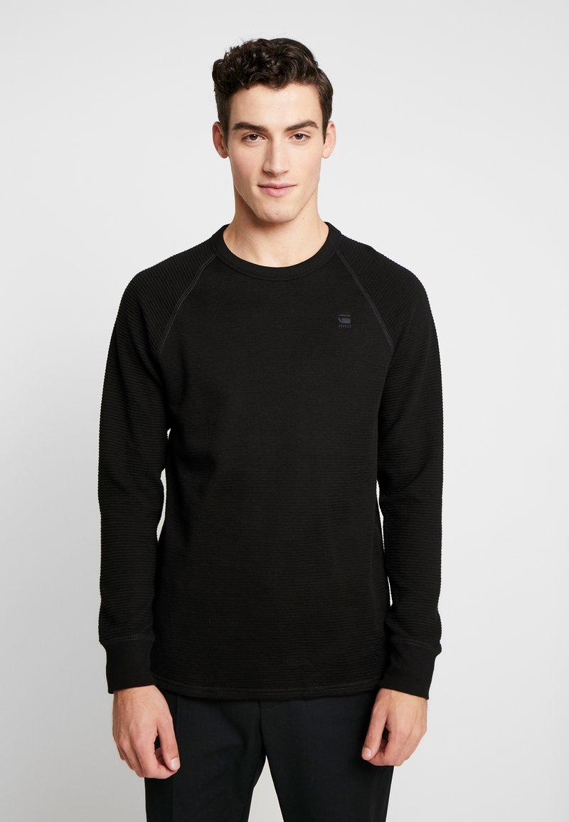 G-Star - JIRGI R T L/S - Sweter - dk black