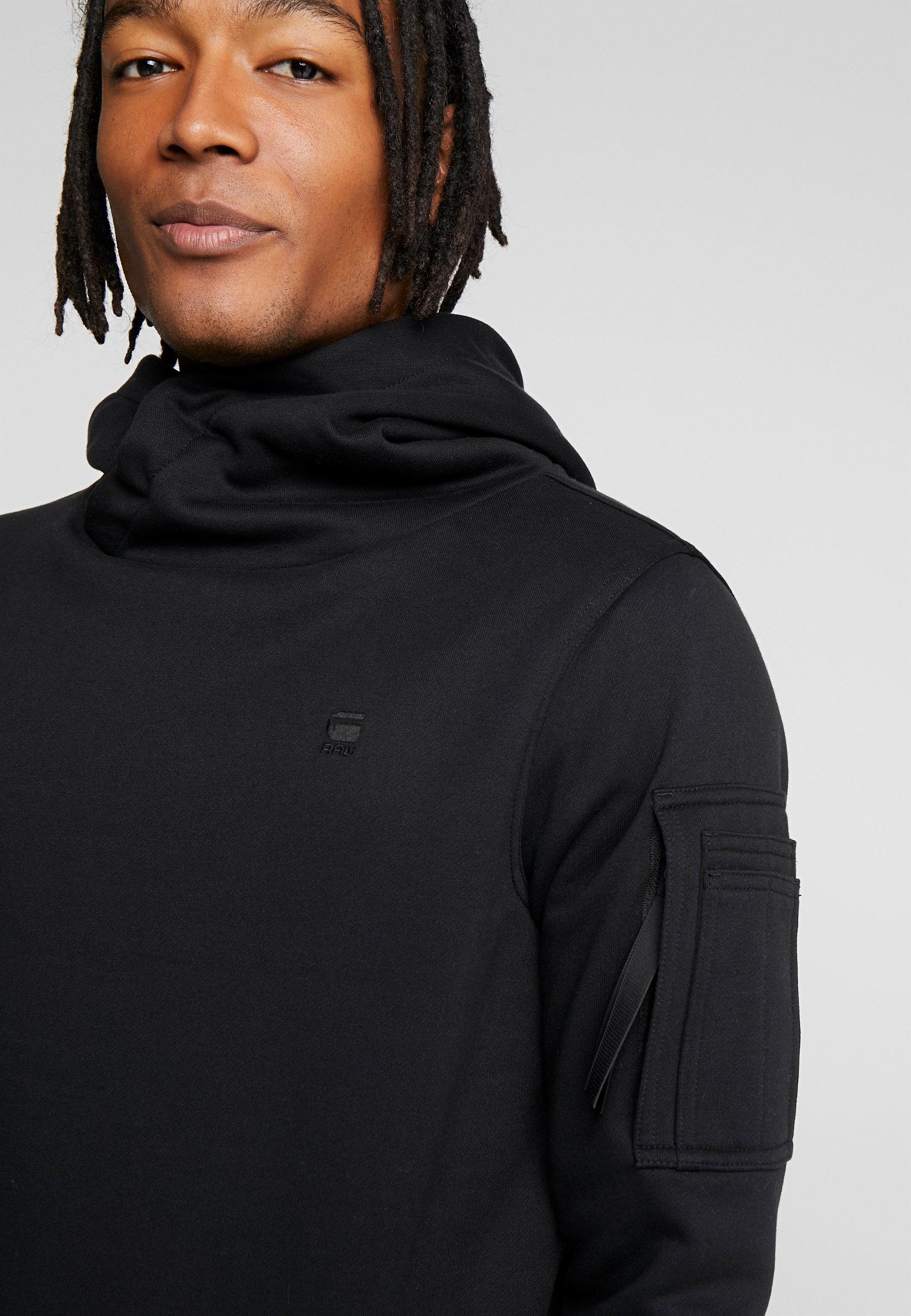 G-Star NEW AERO - Bluza z kapturem - dark black
