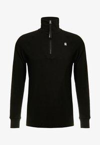 G-Star - JIRGI HALF ZIP T L/S - T-shirt à manches longues - dk black - 4