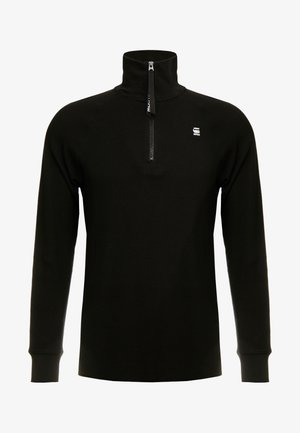 JIRGI HALF ZIP T L/S - Long sleeved top - dk black