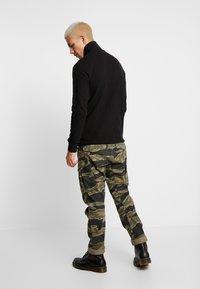 G-Star - JIRGI HALF ZIP T L/S - T-shirt à manches longues - dk black - 2
