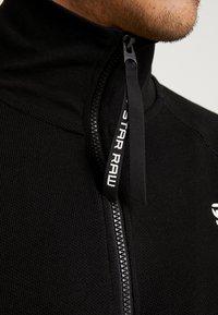 G-Star - JIRGI HALF ZIP T L/S - T-shirt à manches longues - dk black - 5