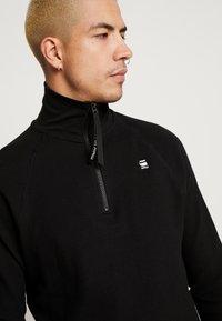 G-Star - JIRGI HALF ZIP T L/S - T-shirt à manches longues - dk black - 3