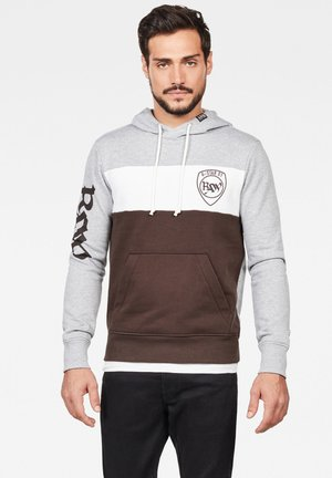 GRAPHIC LOGO - Hoodie - grey/brown