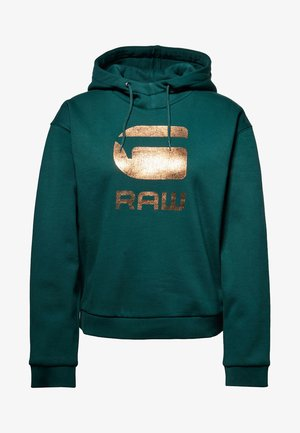 GRAPHIC LYNAZ HOODED - Kapuzenpullover - green
