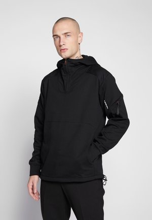 DAST HALF ZIP HDD SW L\S - Sweat à capuche - black