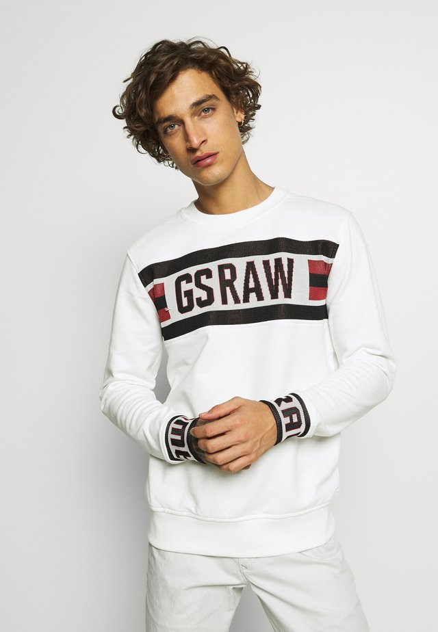 GSRAW JACQUARD - Sweatshirt - milk