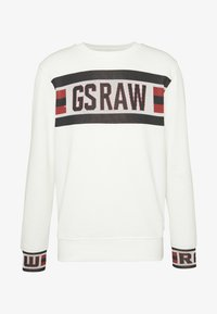 G-Star - GSRAW JACQUARD - Sweatshirt - milk - 4