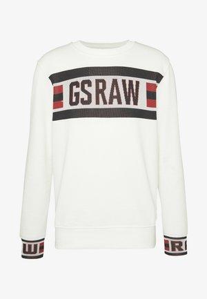 GSRAW JACQUARD SWT L\S - Bluza - milk