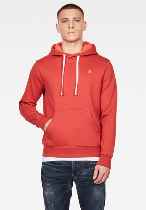 2-TONE HOODED - Hoodie - antic red