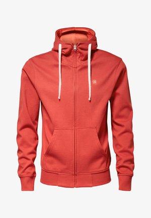 2-TONE HOODED ZIP THROUGH - veste en sweat zippée - antic red