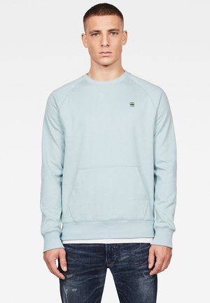 2-TONE ROUND NECK - Sweatshirt - light blue