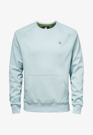 2-TONE ROUND NECK - Sweater - light blue
