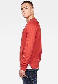 G-Star - 2-TONE ROUND NECK - Sweater - red - 2