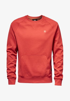 2-TONE ROUND NECK - Sweater - red
