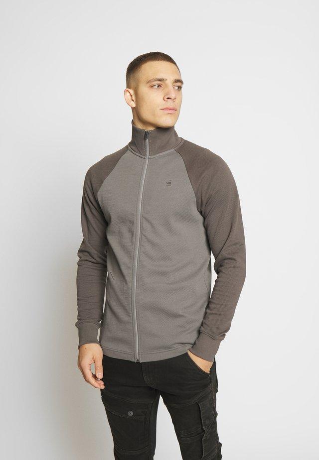 JIRGI ZIP - Strickjacke - metal grey