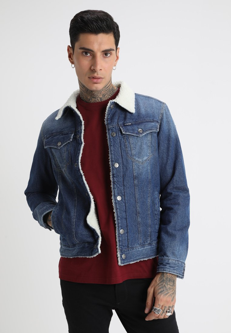 G-Star - 3301 SLIM SHERPA JKT - Denim jacket - medium aged