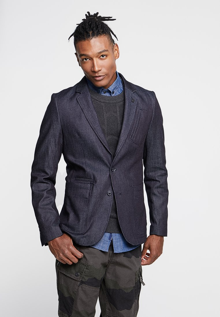 G-Star - VARVE STRAIGHT FIT - blazer - raw denim