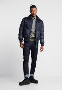 G-Star - ORE DENIM MIX BOMBER - Vinterjacka - mazarine blue - 1