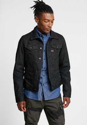 D-STAQ SLIM - Kurtka jeansowa - dark-blue denim