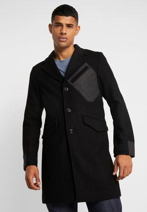 VARVE WOOL COAT - Abrigo - dark black