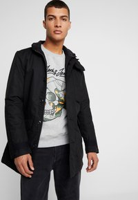 G-Star - SCUTAR UTILITY PADDED TRENCH - Parkas - black - 3