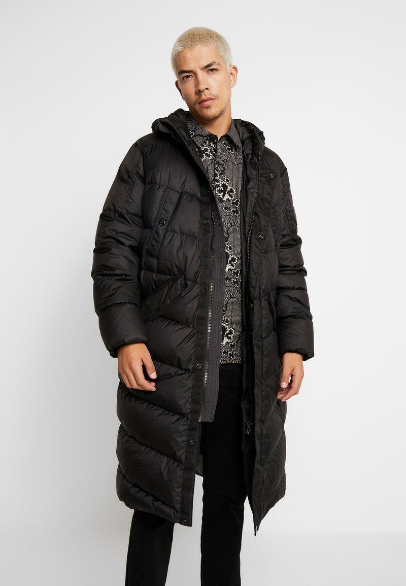 G-Star - WHISTLER DOWN LONG PARKA - Kabát zprachového peří - dark black