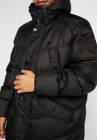 G-Star - WHISTLER DOWN LONG PARKA - Kabát zprachového peří - dark black - 5