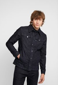 G-Star - 3301 LINING OVERSHIRT - Jeansjakke - dark blue denim - 0