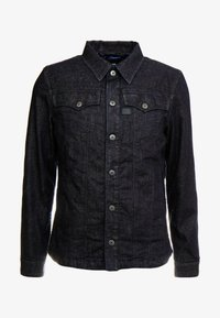 G-Star - 3301 LINING OVERSHIRT - Jeansjakke - dark blue denim - 4