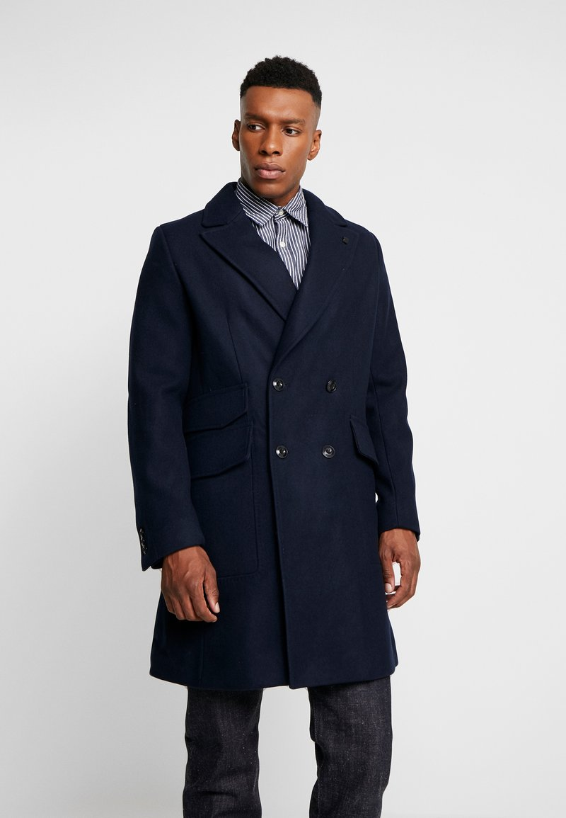 G-Star - DOUBLE BREASTED PALETOT - Classic coat - mazarine blue