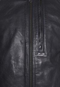 G-Star - BIKER - Leather jacket - mazarine blue - 6