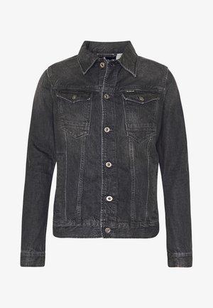 ARC 3D SLIM JKT - Denim jacket - sato black denim/faded basalt