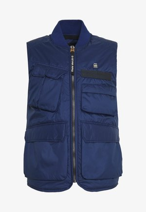 MULTIPOCKET VEST - Waistcoat - imperial blue