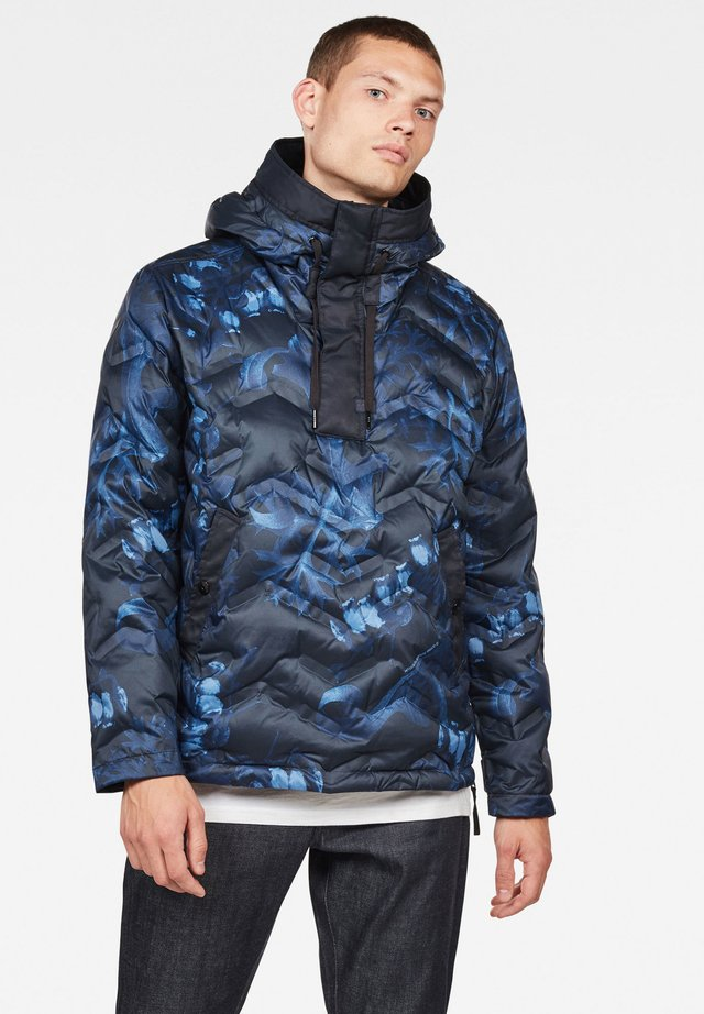 ATTACC HOODED DOWN ANORAK - Gewatteerde jas - blue