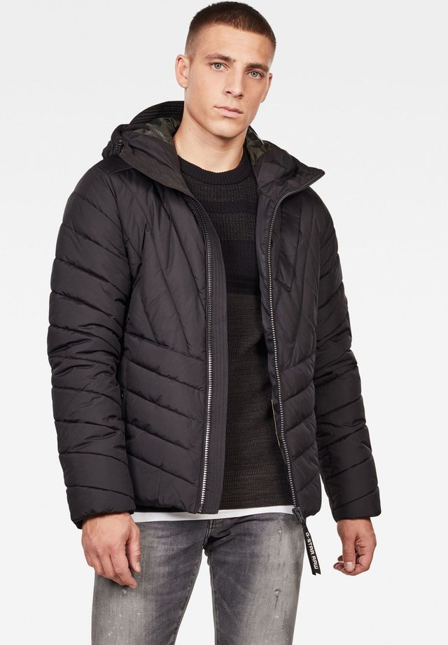 MOTAC ZIP HOODED PUFFER - Winterjas - black