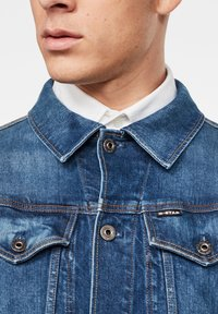 G-Star - 3301 SLIM - Veste en jean - faded stone