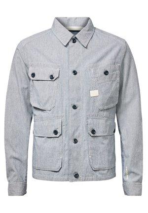FIELD - Light jacket - sun faded indigo stripe