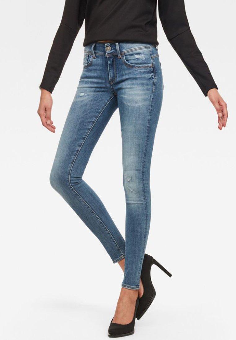 G-Star - LYNN  D-MID SUPER SKINNY - Jeans Skinny Fit - blue