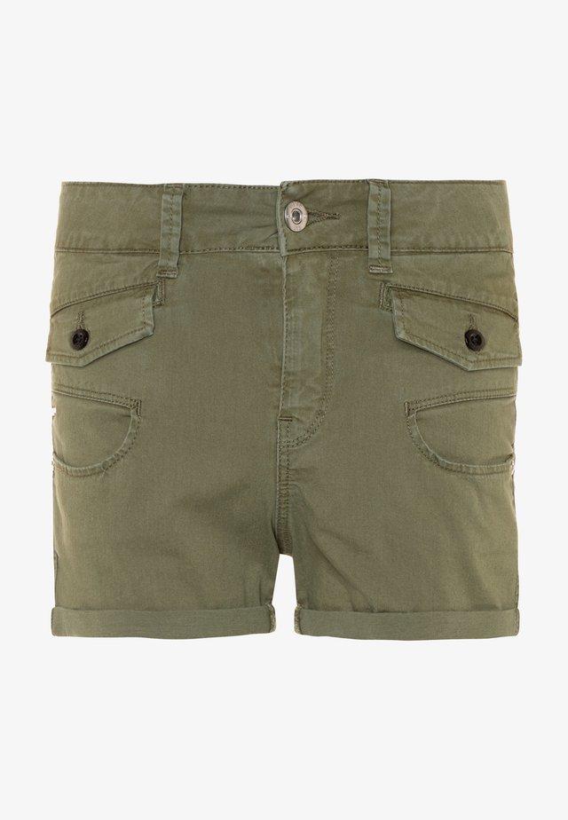 Shorts vaqueros - khaki
