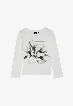 LS TEE - Long sleeved top - white