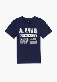 G-Star - T-shirt con stampa - blue - 0