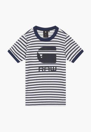 T-shirt print - blue/white