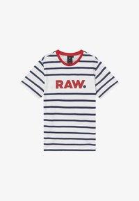 G-Star - T-shirt print - blue/red/white - 2