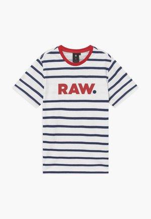 Print T-shirt - blue/red/white
