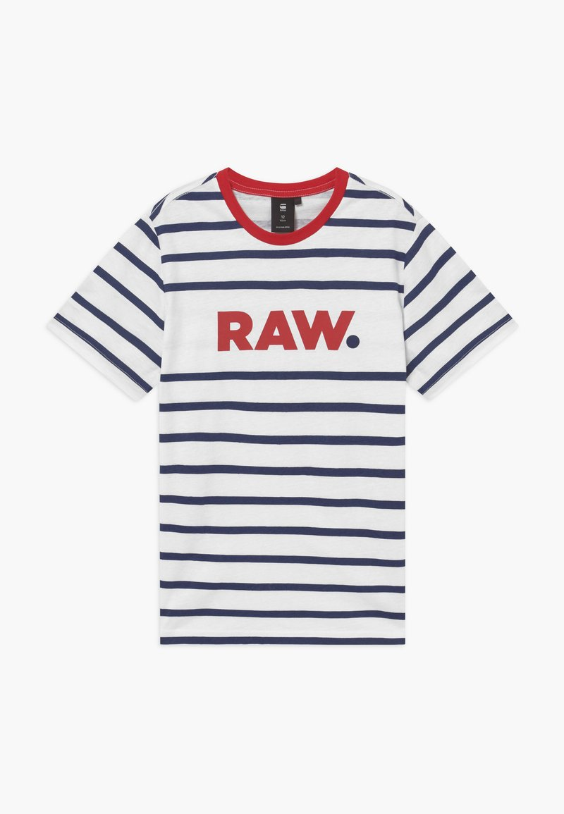 G-Star - T-shirt print - blue/red/white