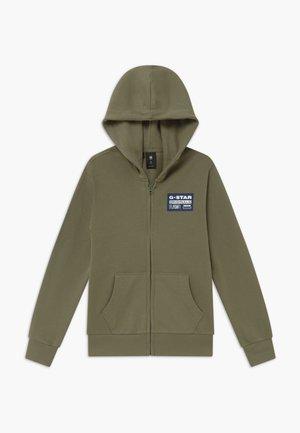 veste en sweat zippée - khaki