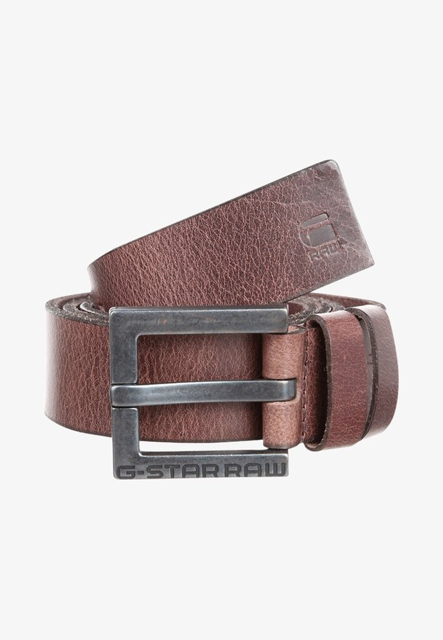 DUKO BELT - Belt - dark brown/black metal
